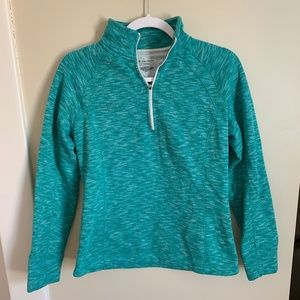 TekGear Teal Quarter Zip Sweatshirt (S)
